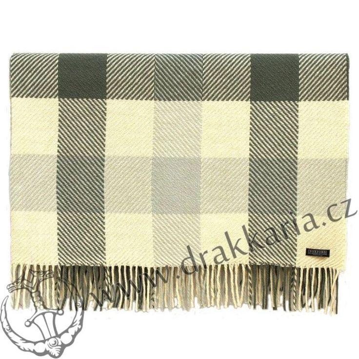 Dublin Check, luxusní vlněná deka, dovoz: Irsko - drakkaria.cz
