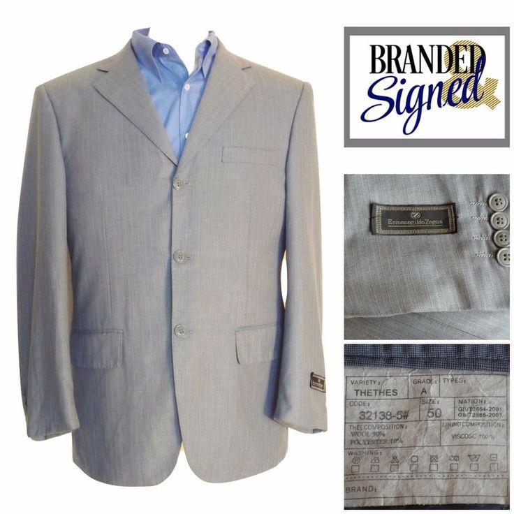 ZEGNA Blazer Jacket 40R LNWT $1200 New Italy Light Weight Men Gray Wool Blend #ErmenegildoZegna #ThreeButton