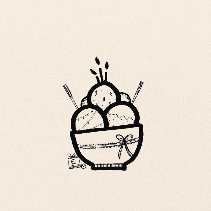 Ice Cream by Lini Katahati 2017. Gelak Tawa. Doodle Art.
