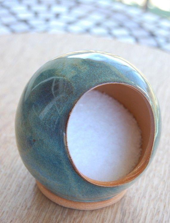 pottery salt cellar