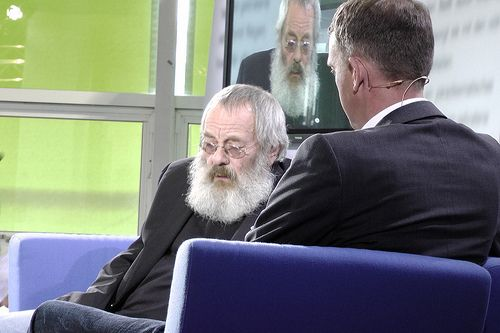 Harry Rowohlt im Gespräch mit Ralf Müller.Schmid