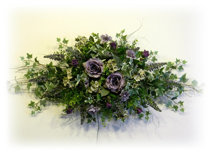 Lavender and Sage Silk Floral Wall Swag By www.sugarcreekhd.com  Wall Swags  Pinterest