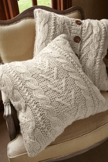 Valais Knit Euro Sham - Cable Knit Pillows, Bedding, Home Decor   Soft Surroundings