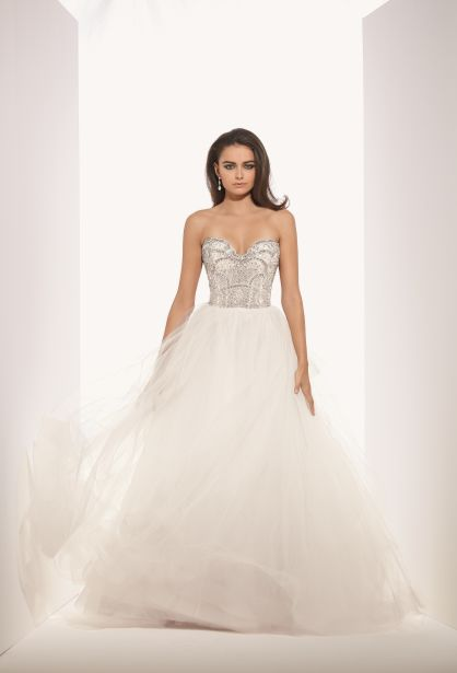 Eve of Milady Sweetheart Ball Gown in Tulle and Beaded Embroidery   KleinfeldBridal.com