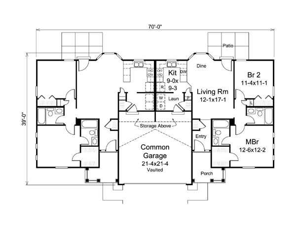Colonial Ranch Multi Family Plan 95881 We The O 39 Jays