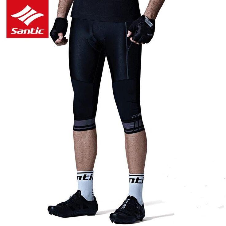 Santic New cycling shorts Men's Summer 3/4 cycling shorts mtb Riding Bike Short Pants Breathable Cushion 4D Coolmax Pad cycling