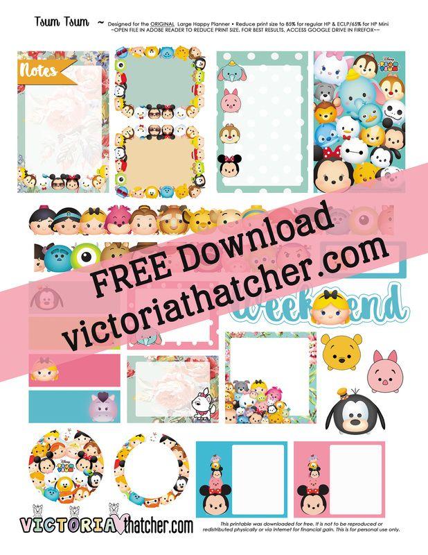 Free Tsum Tsum Planner Stickers