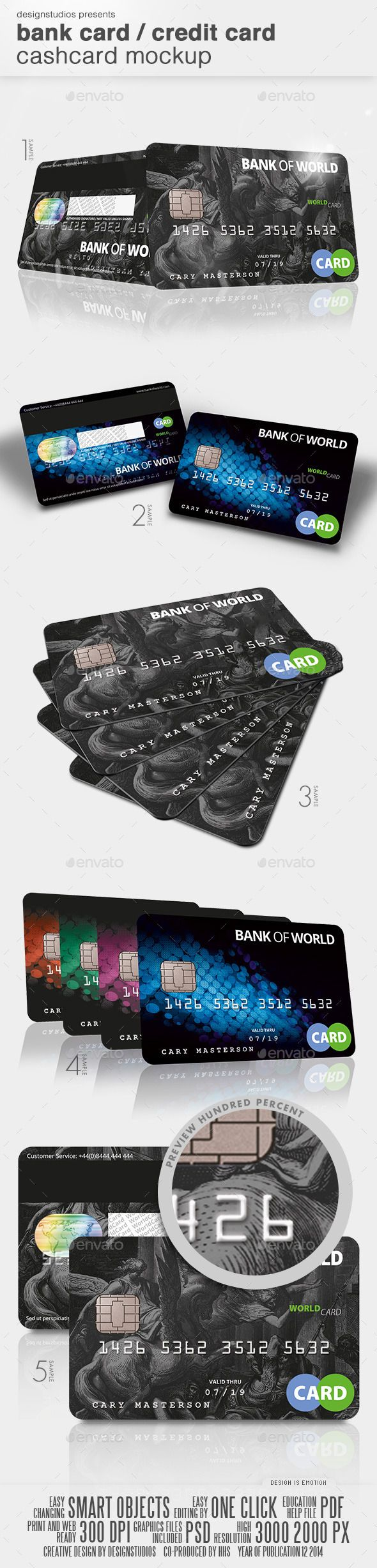 Bank Card / Credit Card CashCard Mock-Up | Buy and Download: http://graphicriver.net/item/bank-card-credit-card-cashcard-mockup/9846708?ref=ksioks