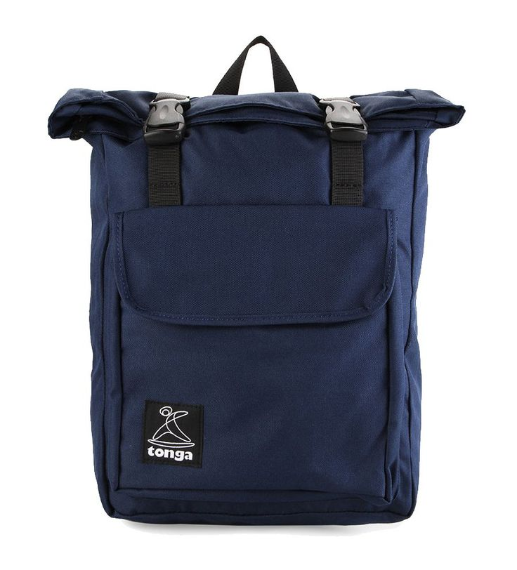 Casual Backpack by Tonga. Blue backpack made from corduroy with on emain compartment, folding accent, front pocket, top carry handle, adjustable strap, perfect bag for short holiday, simple bag that can cary your thing everywhere you go. http://www.zocko.com/z/JIG1D