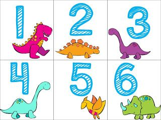 Free! dinosaur number cards 1-20! Smedley's Smorgasboard of Kindergarten: A Kindergarten Smorgasboard Friday Freebie!!