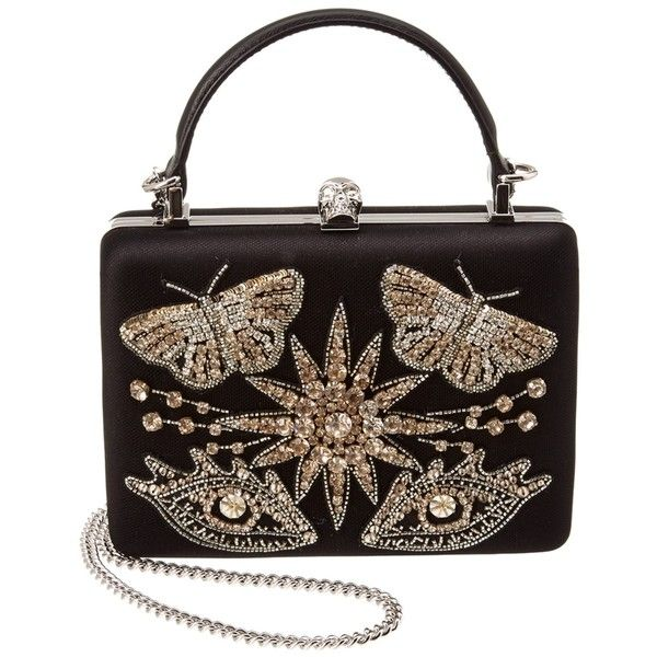 Alexander Mcqueen Alexander Mcqueen Embellished Clutch Bag  ... (87,930 INR) ❤ liked on Polyvore featuring bags, handbags, clutches, multiple colors, colorful clutches, man bag, handbags clutches, multi colored clutches and kisslock handbags