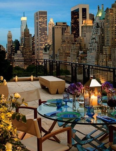 A Dream: Terrace, New York Cities, Balconies, The View, The Cities, Cities Living, Newyork, Cities View, Rooftops