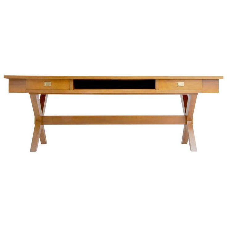 Massive Desk or Console Table, Manner of Gio Ponti | From a unique collection of antique and modern desks and writing tables at https://www.1stdibs.com/furniture/tables/desks-writing-tables/