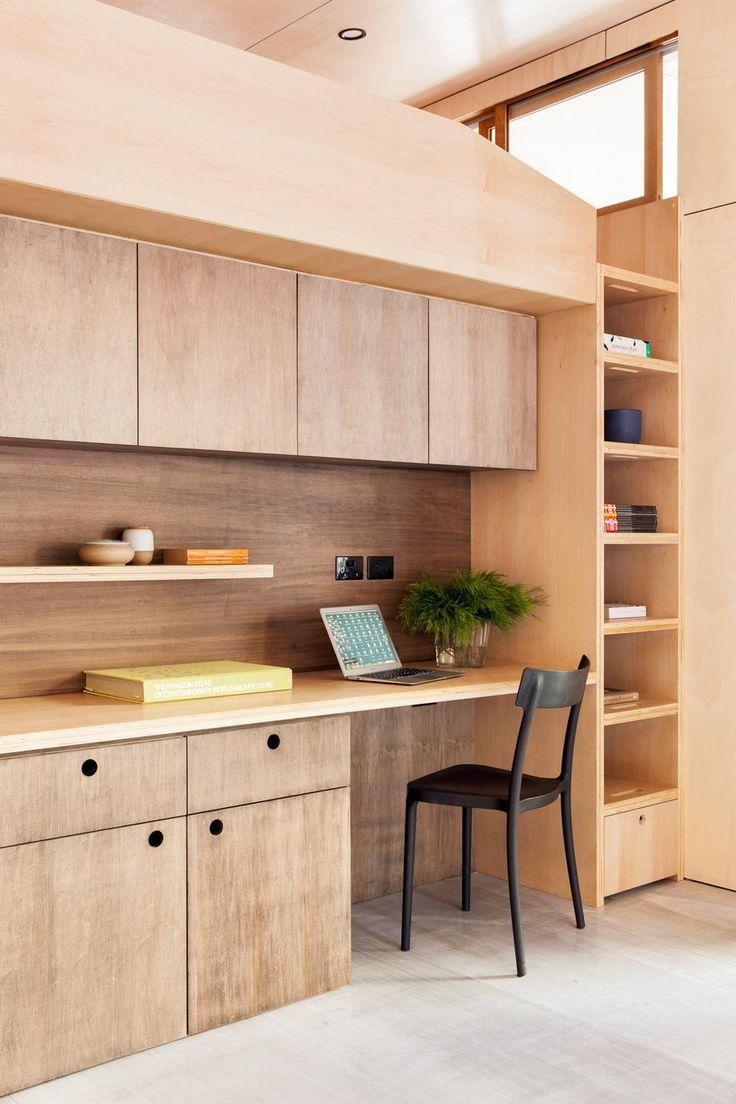 Carbon Positive House by ArchiBlox workspace bookcase