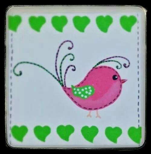 Beautiful for a little girls room. Luv bird (acrylic on canvas) - to order offthewallquirky@gmail.com