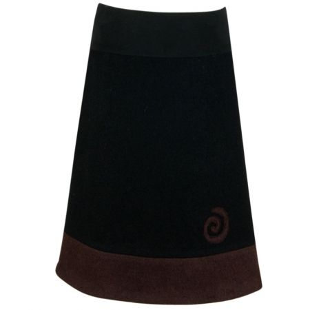 251ddb78cdc272 Walkrock schwarz braun A Linie - LineaMano - Rock nach Maß - handgefertigte  Röcke #wollrock