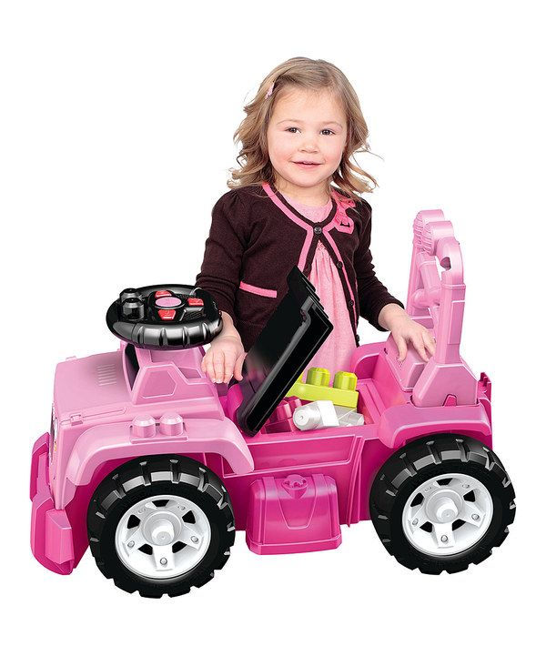 Take a look at this Pink Jeep Ride-On on zulily today!
