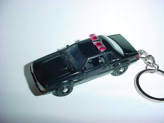 3D 1987 Ford Mustang LX police custom keychain by brian
