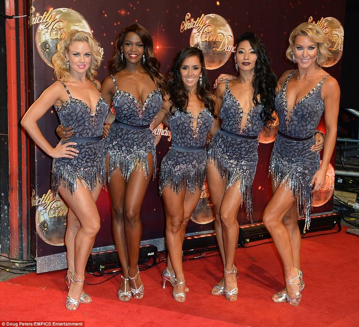 They know how to  do it! The professional dancers, including Joanne Clifton, Otlile Mabuse, Janette Manrara, Karen Clifton and Natalie Lowe (left-right), were all clad in the same ensembles although each displayed their very own stunning physique as they showed off the result of their bodies