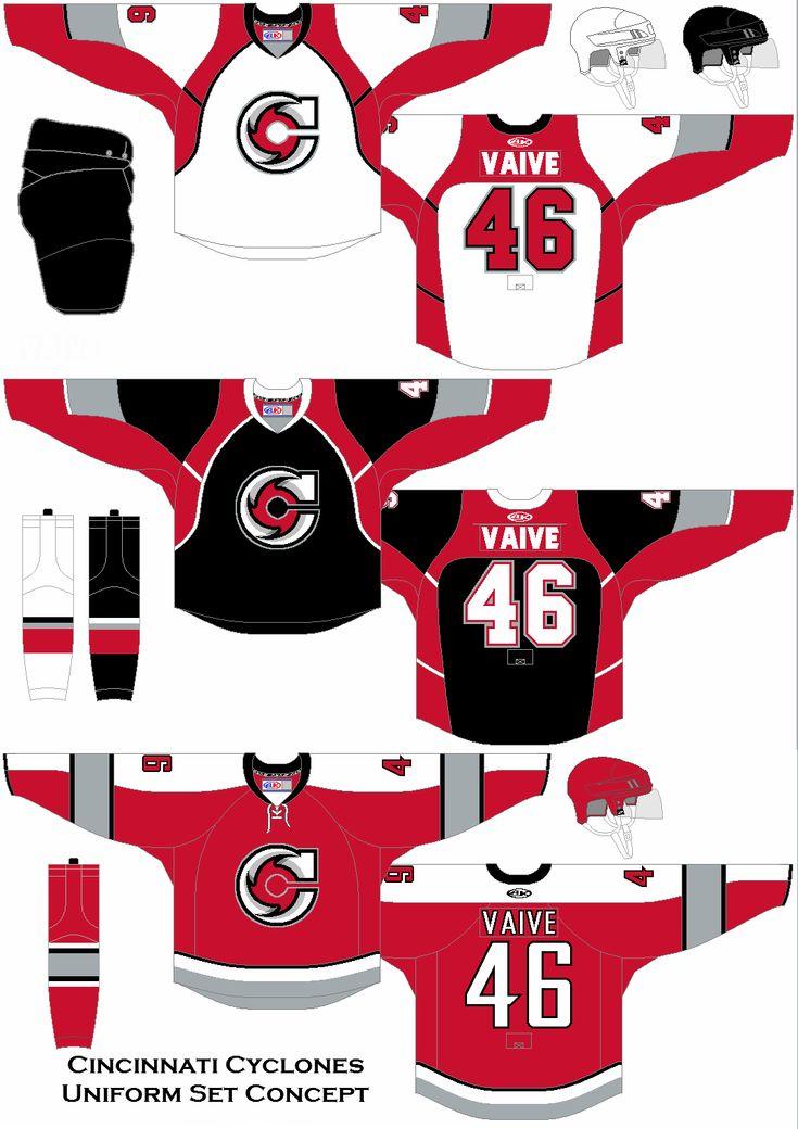 Cincinnati cyclones uniform concept in 2020 cyclone