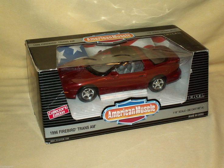 FIREBIRD TRANS AM 1996 ERTL AMERICAN MUSCLE 1:18 CAYENNE RED METALLIC 7209 1995 #ERTL #Pontiac