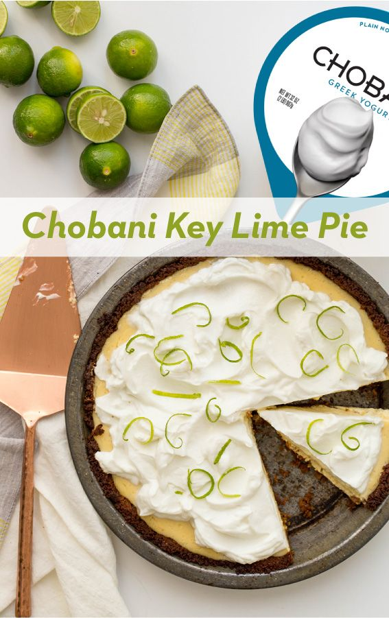 Take this family favorite to another level. Chobani Key Lime Pie is delicious AND lighter than your go-to pie. The Greek Yogurt adds an extra creaminess that is sure to please.