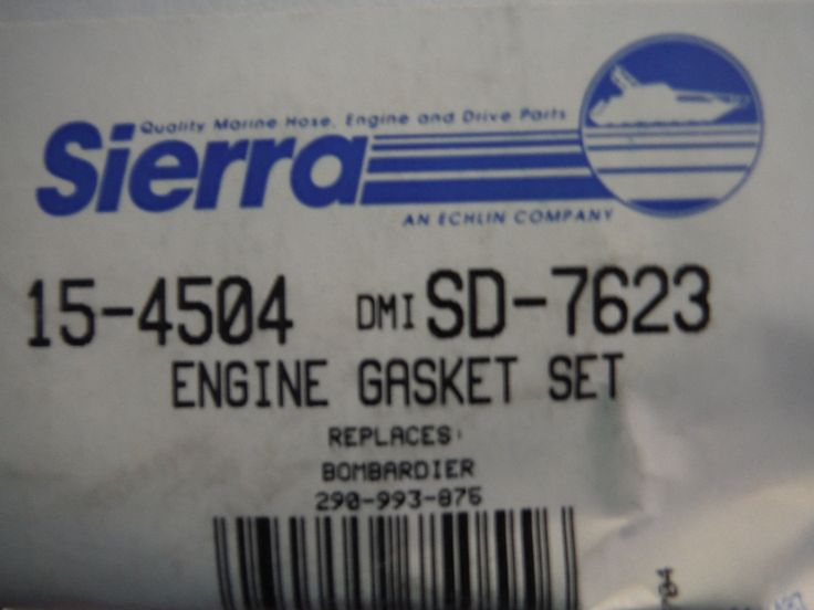 new Sierra 15-4504 Engine Gasket Set Seadoo/bombardier 290-993-875
