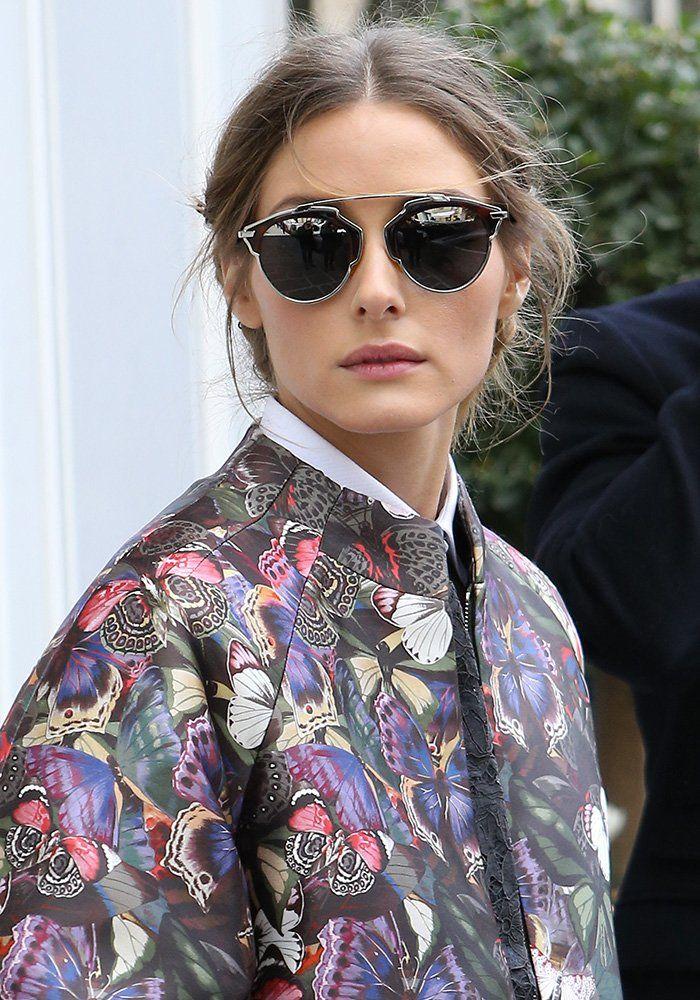 Olivia Palermo et ses lunettes de soleil Diorsoreal de Dior