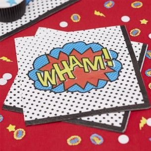Comic Superhero Party Napkins