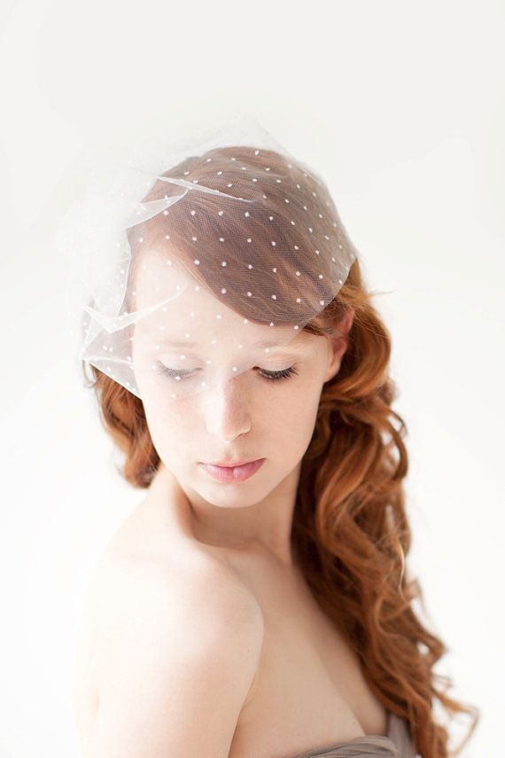 This listing is for the Polka Dot Blusher Birdcage Veil.  This veil is made with…