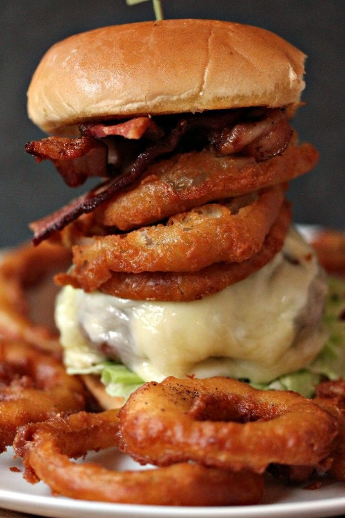Onion Ring Cheeseburger aka The Ringer