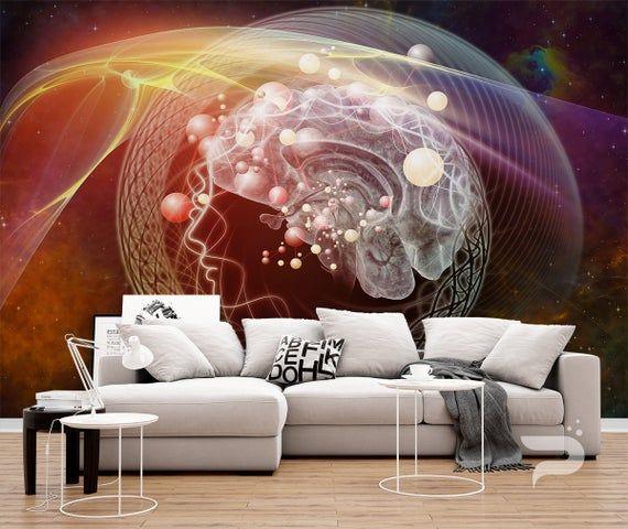 Abstract Space Wall Mural Spiritual Wallpaper Galaxy Wall Etsy Spiritual Wallpaper Abstract Wall Decor Wall Art Prints