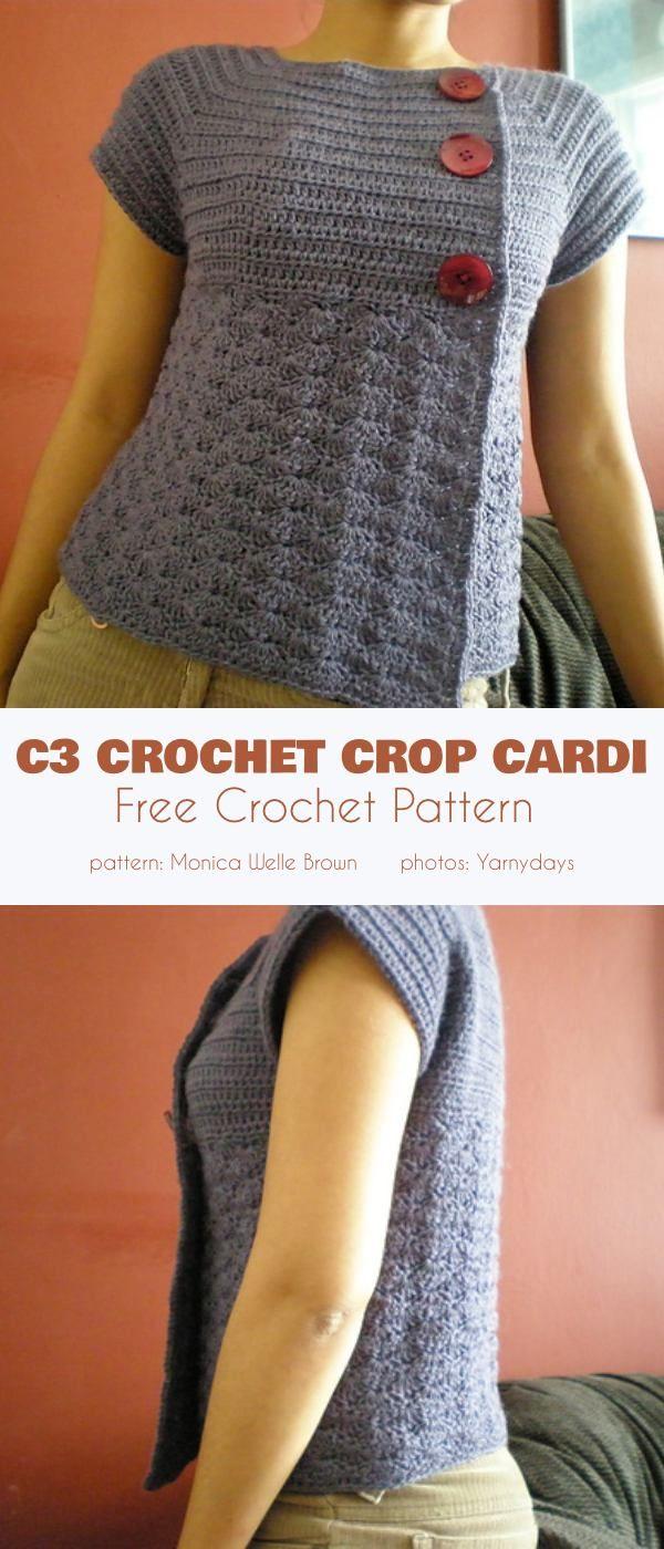 C3 Crochet Crop Cardigan Free Pattern