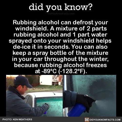 rubbing alcohol !