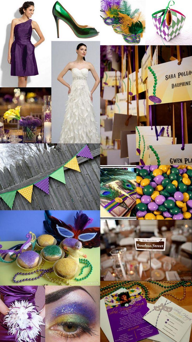Mardi gras wedding theme ideas mardi gras new orleans for Wedding party ideas themes