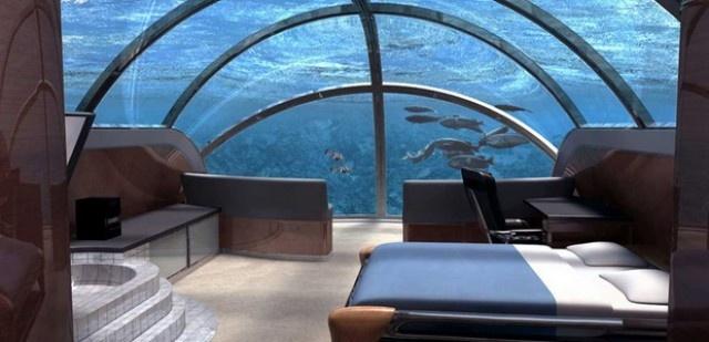 Under water hotel.