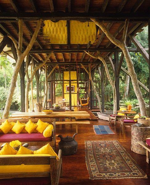 Outdoor living room.  Love.