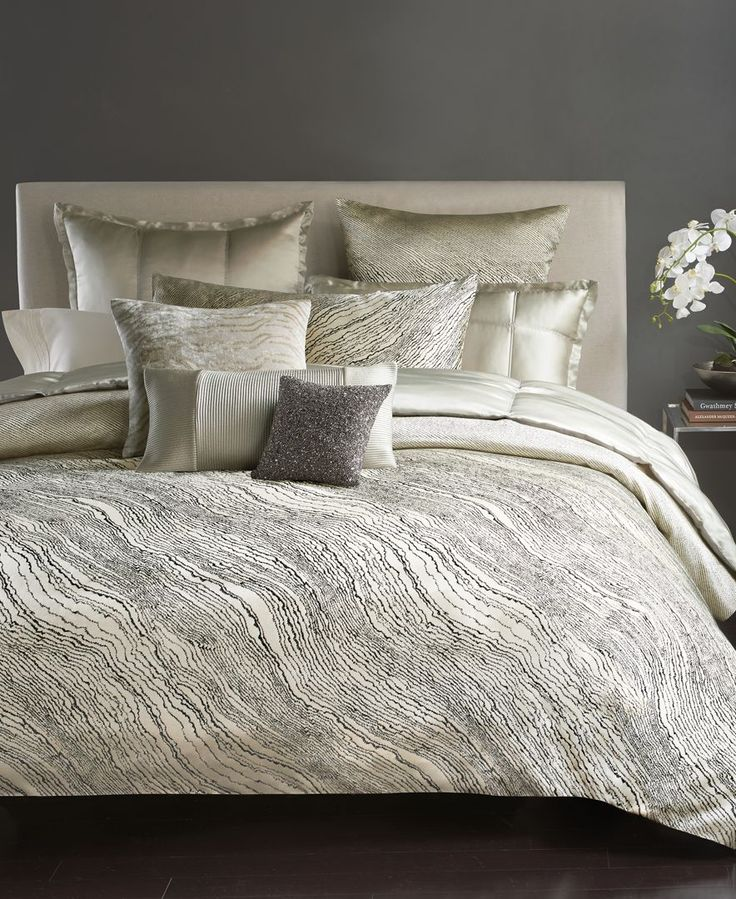Donna Karan Modern Pulse King Duvet Cover Bedroom