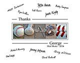 Baseball Coachs Gift with players signatures  Gift for Baseball Coach  1114 with border for signatures