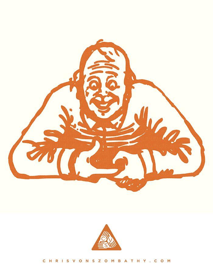 """""""YeeHaw"""" an illustration by artist/designer Chris von Szombathy."""