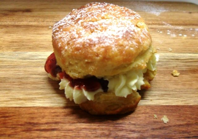 Don't forget the classics - scone with jam and cream. Delish!