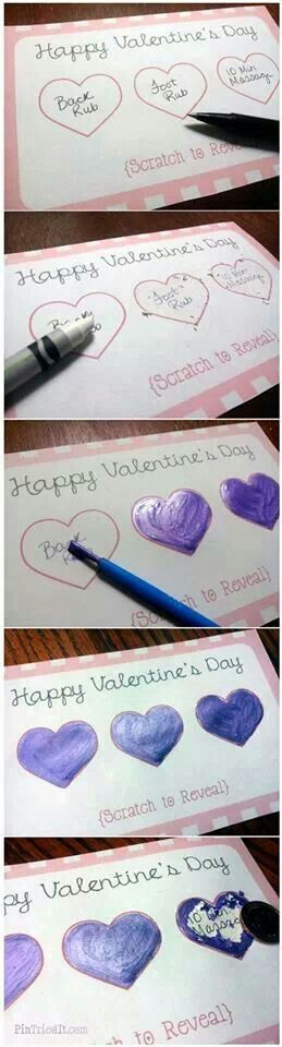 Scratch off valentine