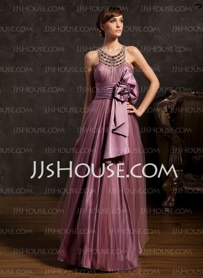 Mother of the Bride Dresses - $148.99 - A-Line/Princess Scoop Neck Floor-Length Tulle Charmeuse Mother of the Bride Dresses With Ruffle Beading (008015108) http://jjshouse.com/A-Line-Princess-Scoop-Neck-Floor-Length-Tulle-Charmeuse-Mother-Of-The-Bride-Dresses-With-Ruffle-Beading-008015108-g15108