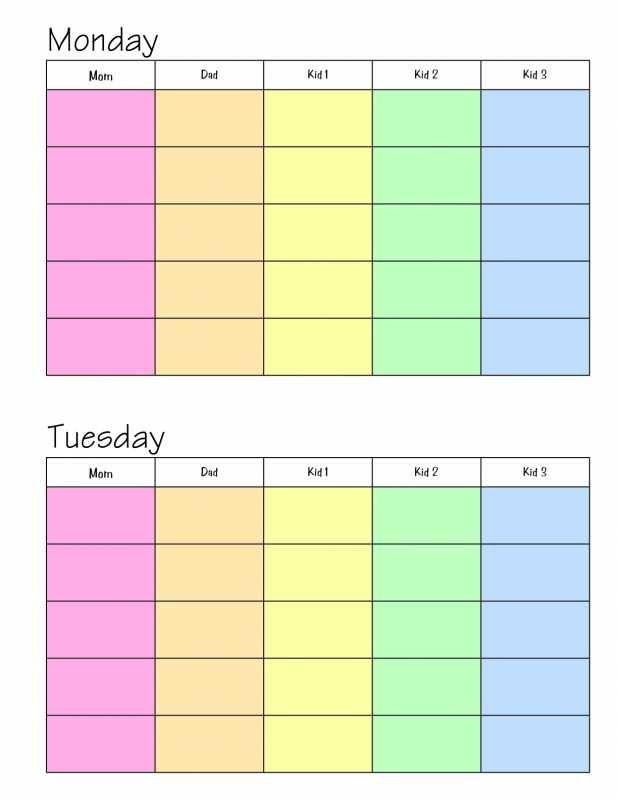 homeschooling schedule template