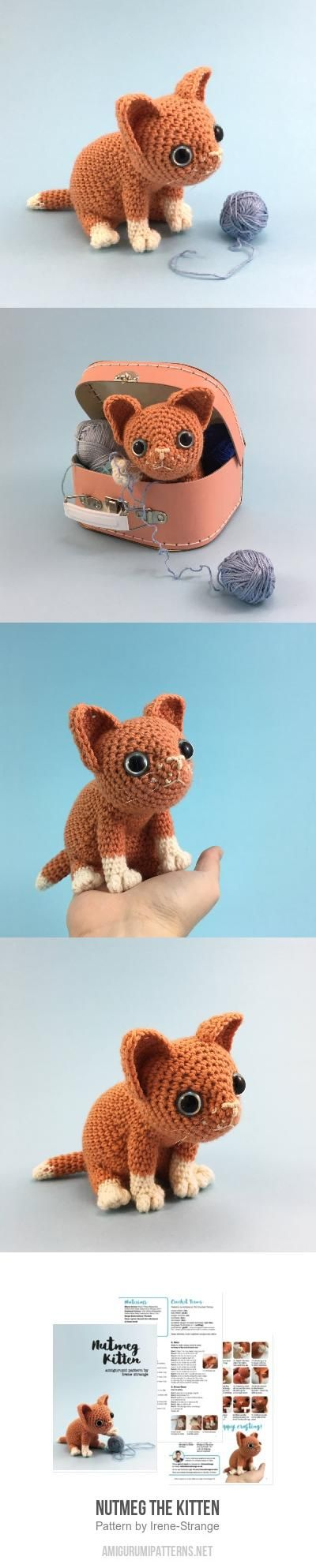 Nutmeg The Kitten Amigurumi Pattern
