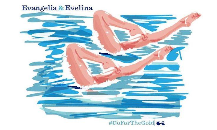 Evangelia Platanioti - Evelina Papazoglou | Synchro Swimming  #TeamHellas_Rio2016 #OlympicGames2016