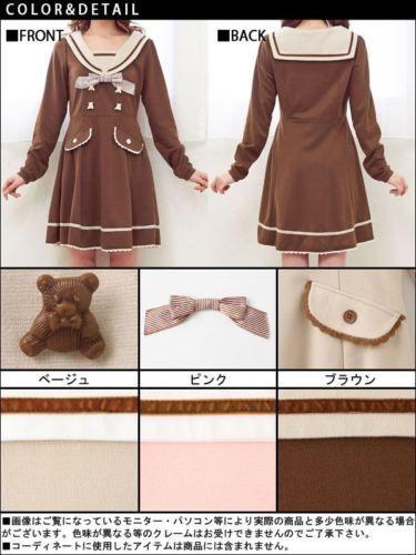 Japanese-Sweet-Lolita-Sailor-Collar-Slim-preppy-style-Winter-Long-Sleeve-Dress