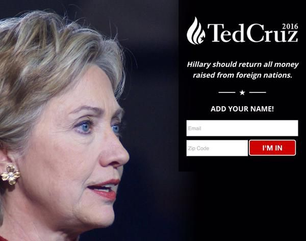 If you agree Hillary should return all money raised from foreign nations, add your name: https://www.tedcruz.org/landing/return_the_money/ 4-23-2015