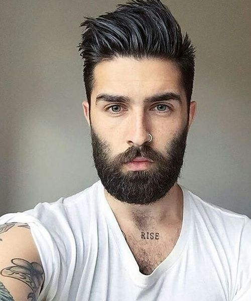 sexy mens haircuts 222 best images about uomo on pompadour 1759 | 184bfcb689a381f2ad42dfeceb068e8d beard haircut sexy beard