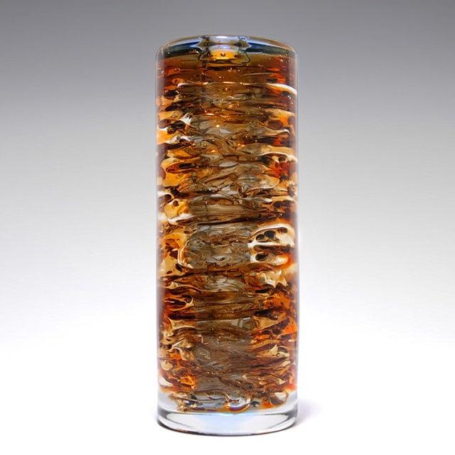 Frantisek Vizner Czech glass vase, Skrdlovice, 1962